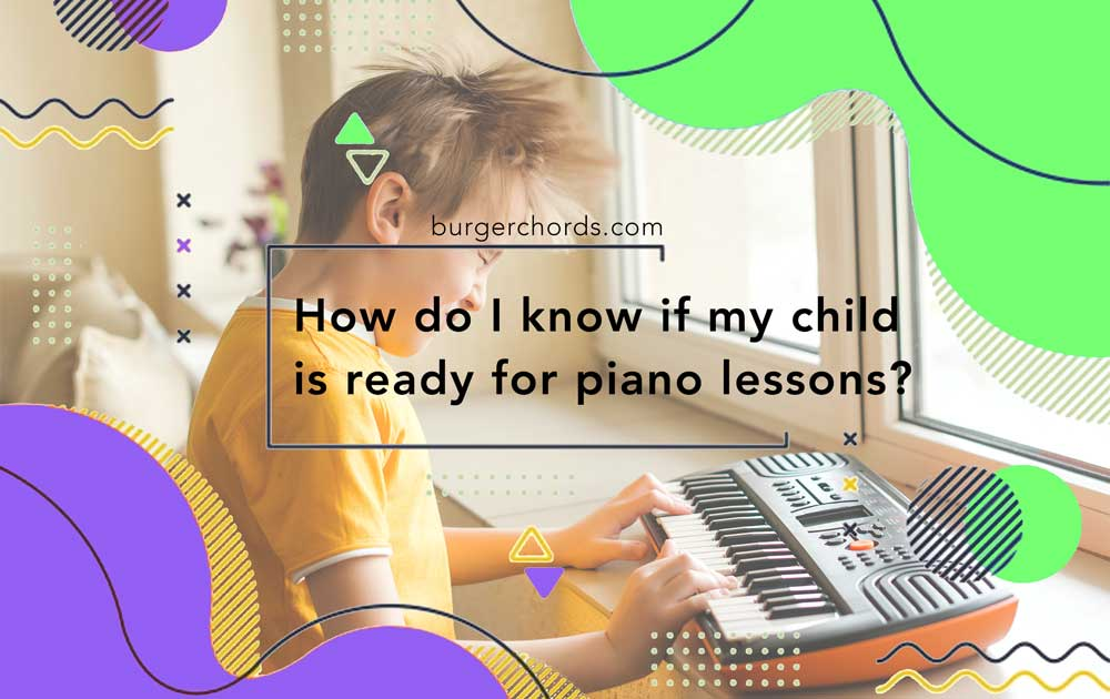 boy playing small keyboard ready for piano lessons
